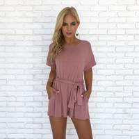 Happy As Can Be Pink Jersey Romper