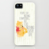 I do nothing every day iPhone Case by Sara Eshak | Society6