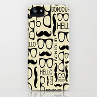 Hello, Bonjour iPhone & iPod Case by Amy Copp