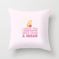 Disney's Sleeping Beauty: Once Upon A Dream Throw Pillow by hopealittle