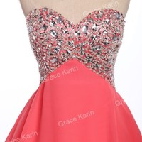 Beaded 2015 Short Homecoming Bridesmaid Prom Ball Party Gown Evening Mini Dress