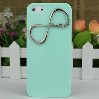 """Light Green Hard Case Cover With One Direction """"Directioner"""" Infinity for Apple iPhone5 Case, iPhone 5 Cover,iPhone 5 Case, iPhone 5g"""