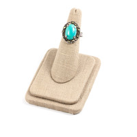 70's__Vintage__Sterling Turquoise Ring