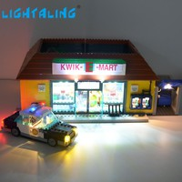 Lightaling Led Light Set For The Simpsons Kwik-E-Mart Lighting Kit Compatible With Lego 71016 Building Block 16004 Toy