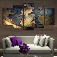 Game of Thrones Map Canvas Print Wall Art Home Decor