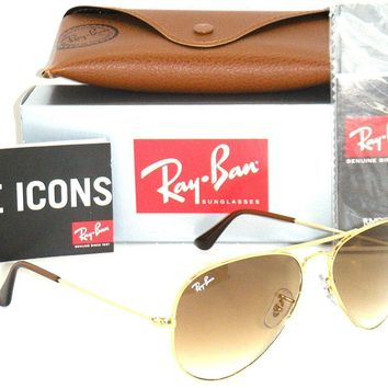 Cheap Ray-Ban Aviator 3025 RB 3025 001/51 58mm Gold Frame with Brown Gradient Medium outlet