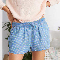 Aerie Chambray Short, Blue