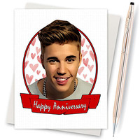 Anniversary Card - Justin Bieber Card - Sorry - Belieber - Boyfriend Card - Funny Card - Card For Boyfriend - Card For Girlfriend - Lover