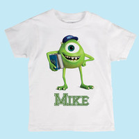 Kids Personalized Disney Monsters University Mike Boys Shirt or Onesuit Birthday