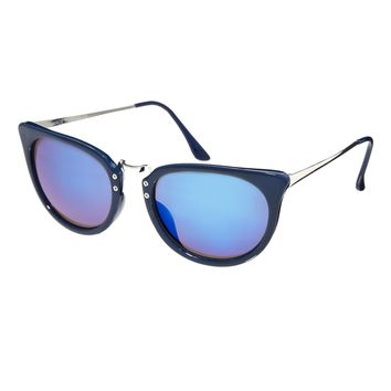 ASOS Retro Sunglasses With Metal Nose Bridge` - Navy