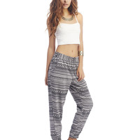 Tribal Print Jogger Pants | Wet Seal