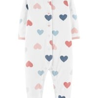 Heart Snap-Up Fleece Sleep & Play
