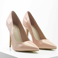 Faux Patent Leather Pumps
