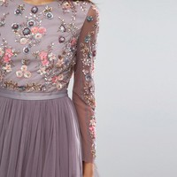 Needle & Thread Ditsy Scatter Tulle Midi Dress at asos.com