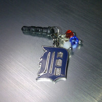 Detroit Tigers Cell Phone Dust Plug Charm