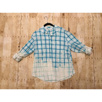 LARGE Distressed Button Up
