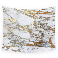 Society6 Gold Marble Wall Tapestry