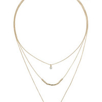 Ring Layer Necklace - Clear