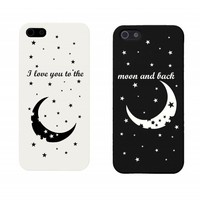 I Love You to the Moon and Back Couples Matching Cell Phone Cases for iphone 4, iphone 5, iphone 5C, Galaxy S3, Galaxy S4, Galaxy S5
