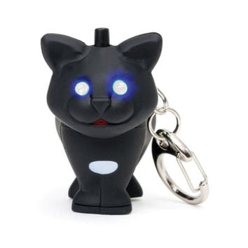 Cat LED Keychain with Sound