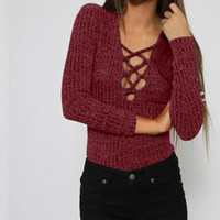 Winter Sexy Slim Knit Tops Bottoming Shirt [4966035524]