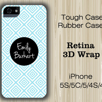Seamless Blue Monogram iPhone 6/5S/5C/5/4S/4 Case