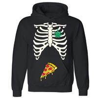 "Zexpa Apparelâ""¢ Rib Cage Weed Pizza Munchies Unisex Hoodie Halloween Costume Hooded Sweatshirt"