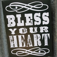 BLESS YOUR HEART CANVAS - Junk GYpSy co.