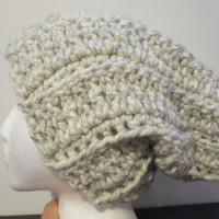 Chunky and slouchy wool winter hat, dread head hat, cozy gift ideas