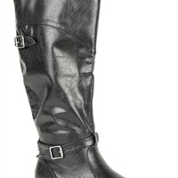 Flat Riding Boot with Ankle Strap
