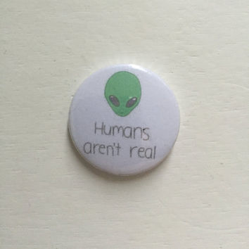 "1"" Alien Pin Buttons/Badges"