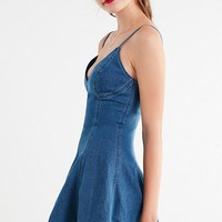 C/meo Collective Perpetual Dreams Denim Mini Dress | Urban Outfitters