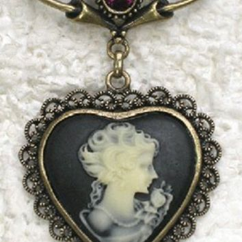Brooch - Royal Reign Victorian Heart Cameo Brooch