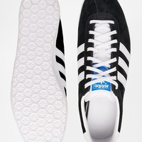 adidas Originals Gazelle OG Black & White Trainers at asos.com