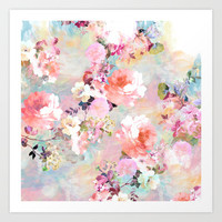 Love of a Flower Art Print by Girly Trend