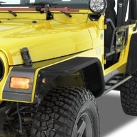 """Warrior Products S7314-RAW 10"""" Wide 2 and 4 Door Front Tube Flares with Raw Material Steel Tops for Jeep JK 07-10"""