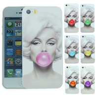 Stylish Marilyn Monroe Bubble Gum Protective Back Hard Cover Case For Apple i Phone iPhone 6 iPhone6 4.7 inch Free Shipping