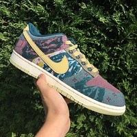 "Nike Sb Dunk Low ""Lemon Wash"" low-top casual sports skateboard shoes"