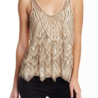 Beaded & Sequin Mesh Tank