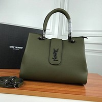 YSL Women Leather Shoulder Bag Shopping Satchel YSL Tote Bag Handbag