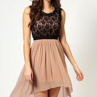 Dottie Lace Top Mixi Dress