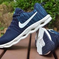 """""""Nike"""" Men Sport Casual Fashion Flyknit Thick Bottom Sneakers Multicolor Running Shoes"""