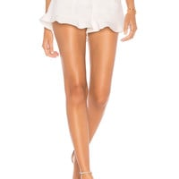 1. STATE Ruffle Hem Short in New Ivory