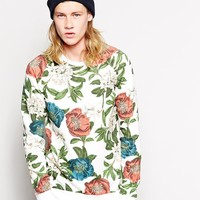Pull&Bear Sweatshirt With All Over Floral Print