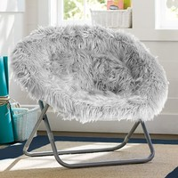Gray Fur-Rific Hang-A-Round Chair