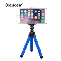 Universal Octopus Leg Portable Adjustable Flexible Tripod Stand with Clip For Mobile Phone Digital Camera Mount Holder MH568