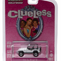 1994 JEEP WRANGLER from the classic 1995 film CLUELESS * GL Hollywood Series 12 * 2016 Greenlight Collectibles Limited Edition 1:64 Scale Die Cast Vehicle