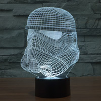 3D Gradient Starwars Multi-color New Arrival LED Colorful Lamp = 5826238017