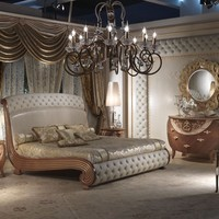 CLASSIC STYLE UPHOLSTERED BED VANITY | BED WITH UPHOLSTERED HEADBOARD | CARPANELLI CLASSIC