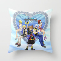 Kingdom Hearts Throw Pillow by clayscence | Society6